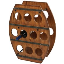 Sterling Industries Stained Wood Barrel Wine Rack in See Photo - Closeouts
