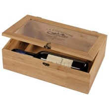 "Sterling Industries Wine Bleached Wood Wine Box - 24"" in See Photo - Closeouts"