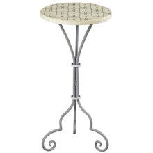 Sterling Large Plant Stand in Grey/White - Closeouts
