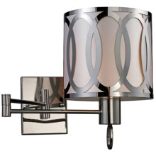 Sterling Lighting Anastasia Swing Arm Sconce in Polished Nickel - Overstock