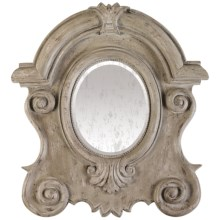 "Sterling Lighting Hapsburg Wall Mirror - 37x34"" in Antique White - Closeouts"