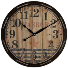 "Sterling Lighting Harbor Wall Clock - 23.5"" in Distressed - Overstock"