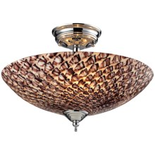 Sterling Lighting Nightglow Ceiling Fixture in Cocoa/Polished Chrome - Overstock