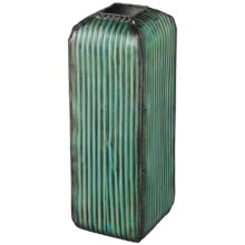 Sterling Lighting Ribbed Standing Floor Vase in Green - Overstock
