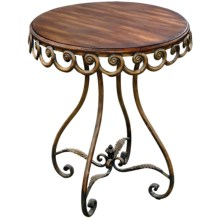 Sterling Lighting Round Scalloped Edge Accent Table in See Photo - Closeouts