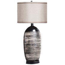 Sterling Lighting Variegated Vessel Table Lamp in Black / White - Closeouts
