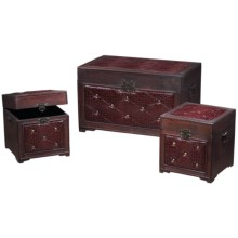 Sterling Storage Chests - Nested Set of 3 in See Photo - Closeouts
