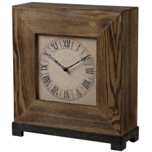 Sterling Wood Veneer Mantle Clock in Wood Tone - Overstock
