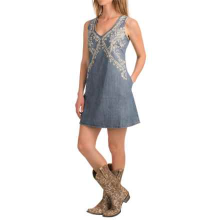 Stetson 6 oz. Denim Dress - Sleeveless (For Women) in Denim - Closeouts