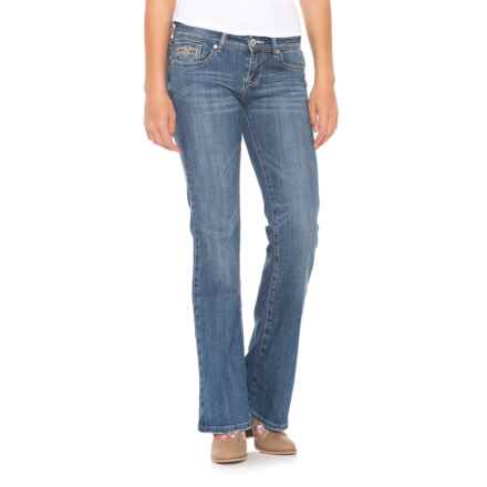 Stetson 816 Heavy Pocket Stitch Jeans - Bootcut (For Women) in Light Wash - Closeouts