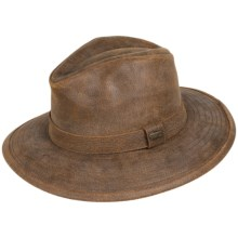 Stetson Aged Leather Outback Hat (For Men and Women) in Hickory - Closeouts