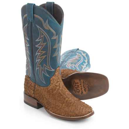 Stetson Amazon Bay Apache Cowboy Boots - Square Toe (For Men) in Brown - Closeouts