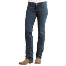 Stetson Arrow Jeans - Low Rise, Straight Leg (For Women) in Blue - Closeouts
