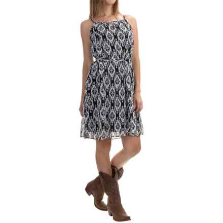 Stetson Aztec-Print Chiffon Sundress - Sleeveless (For Women) in Black - Overstock