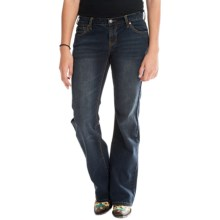 Stetson Bootcut Ink Wash Denim Jeans - Slim Fit, Low Rise (For Women) in Blue - Closeouts