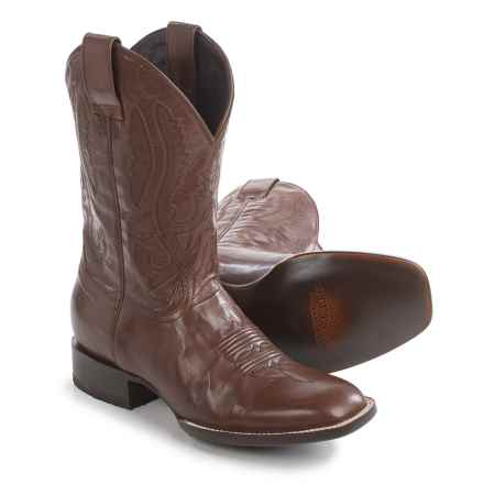 Stetson Cavalry Square-Toe Cowboy Boots (For Men) in Brown - Closeouts