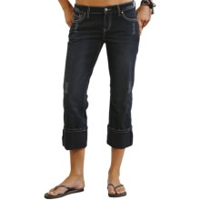 Stetson Classic Distressed Jeans - Straight Leg (For Women) in Blue - Closeouts