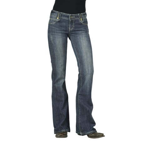 Stetson Classic Nailhead Jeans - Bootcut (For Women) in Blue