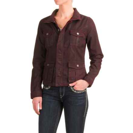 Stetson Coated Twill Jacket (For Women) in Dark Red - Closeouts