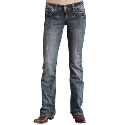 Stetson Contemporary Jeans - Low Rise, Bootcut (For Women) in Blue - Closeouts