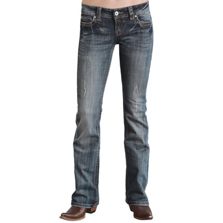 Stetson Contemporary Jeans - Low Rise, Bootcut (For Women) in Blue