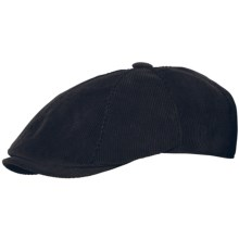Stetson Corduroy Ivy Cap - Ear Flaps (For Men) in Black - Closeouts