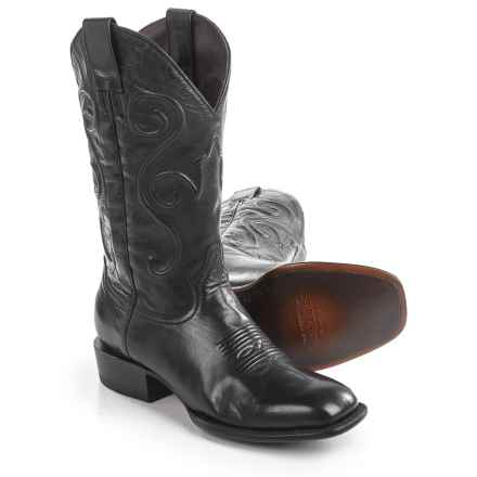 Stetson Darringer Cowboy Boots - Square Toe (For Men) in Black - Closeouts