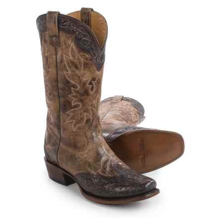 "Stetson Delamar Cowboy Boots - Square Toe, 13"" (For Men) in Brown - Closeouts"