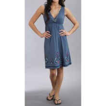Stetson Embroidered Sun Dress - Sleeveless (For Women) in Blue - Closeouts