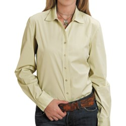 Stetson End on End Shirt - Long Sleeve (For Women) in Green
