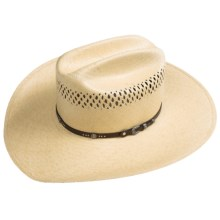 Stetson Fancy Straw Cowboy Hat (For Men) in Wheat - Closeouts