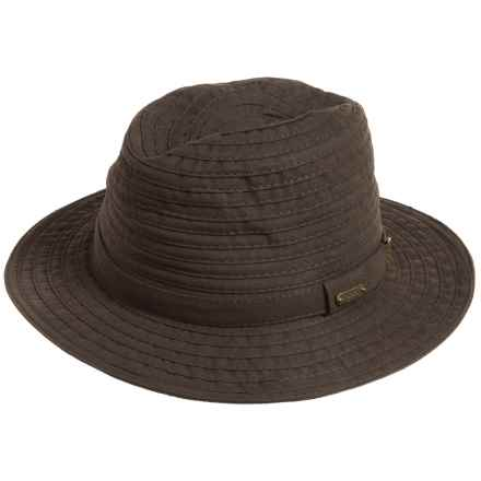 Stetson Faux-Suede Safari Hat (For Men) in Chocolate - Closeouts