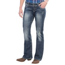 Stetson Flap Pocket Jeans - Low Rise, Bootcut (For Women) in Blue - Closeouts