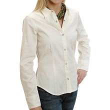 Stetson Floral Jacquard Shirt - Snap Front, Long Sleeve (For Women) in Cream - Closeouts