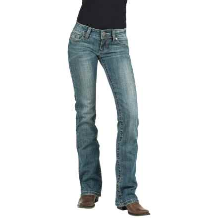 Stetson Gold Leaf Jeans - Low Rise, Bootcut (For Women) in Blue - Closeouts