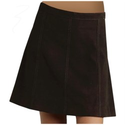 Stetson Gored Suede Skirt (For Women) in Brown