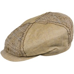 Stetson Harvanton Linen Quarter Cap - Lined (For Men) in Tan