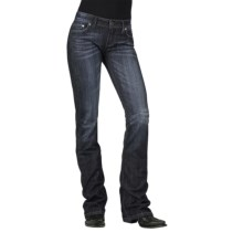 Stetson Hollywood Rhinestone Jeans - Bootcut (For Women) in Blue - Closeouts