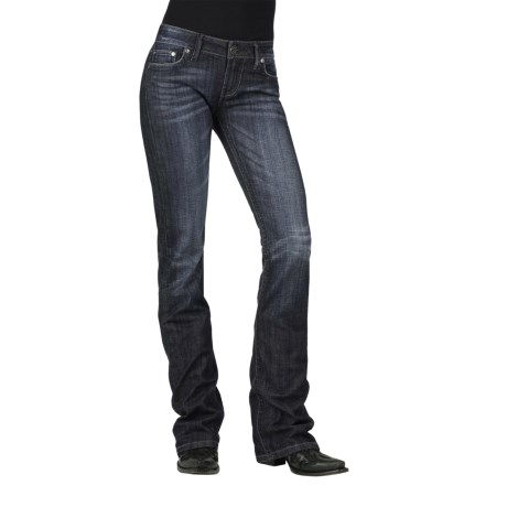 Stetson Hollywood Rhinestone Jeans - Bootcut (For Women) in Blue