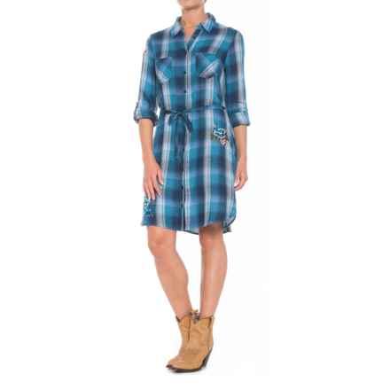 Stetson Indigo Blues Dress - Long Sleeve (For Women) in Blue - Closeouts