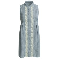 Stetson Indigo Chambray Shirt Dress - Sleeveless (For Women) in Blue