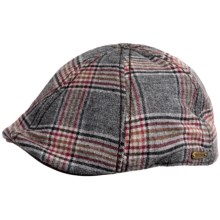 Stetson Ivy Plaid Raton Duckbill Cap (For Men) in Black - Closeouts