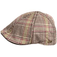 Stetson Ivy Plaid Raton Duckbill Cap (For Men) in Brown - Closeouts