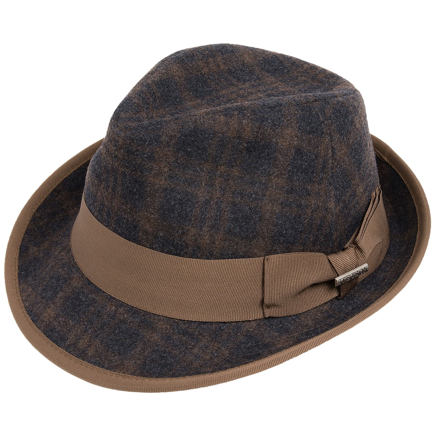 stetson kondor plaid fedora hat for men save 83