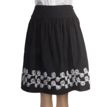 Stetson Lace-Embroidered Skirt - Wool Tweed (For Women) in Grey - Closeouts