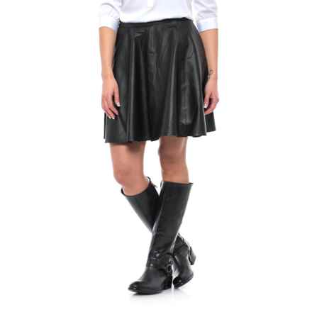 Stetson Leather Circle Skirt (For Women) in Black - Closeouts