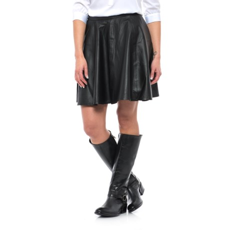 Stetson Leather Circle Skirt (For Women) in Black