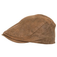 Stetson Leather Ivy Cap (For Men) in Hickory - Closeouts