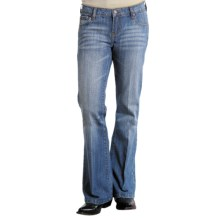 Stetson Low Rise Bootcut Slim Fit Jeans (For Women) in Mineral Wash - Closeouts