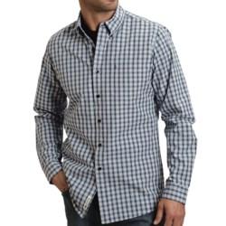 Stetson Mini Ombre Reverse Plaid Shirt - Long Sleeve (For Men) in Blue